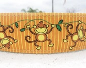 """Sale Big Dog Collar 1.5"""" wide adjustable side release buckle Monkey Business - martingale style is cost upgrade"""