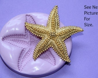 Silicone Starfish Mold Fondant Sugar Butter Marzipan Flexible Molds Polymer Clay Resin Molds