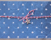 4th of July card, July 4 birthday, Americana card, Red White and Blue