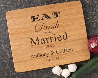 Personalized Wedding Gift, Personalized Cutting Board, Custom Engraved Bamboo Cutting Boards, Wedding Gifts, Housewarming Gifts-15 x 12 D17
