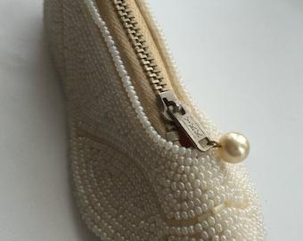 Vintage Beaded Shoe/Slipper Coin/Change Purse
