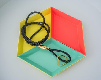 Necklace lanyard keychain leather braided black detachable lanyard
