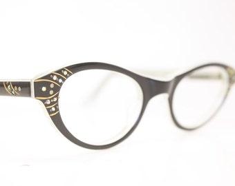 Unique cat eye glasses black vintage cateye frames eyeglasses