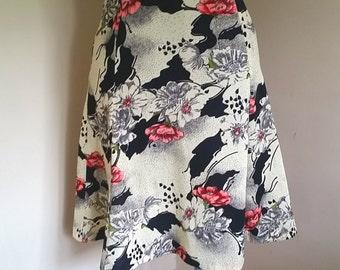 Vintage 1960's Floral A line Skirt