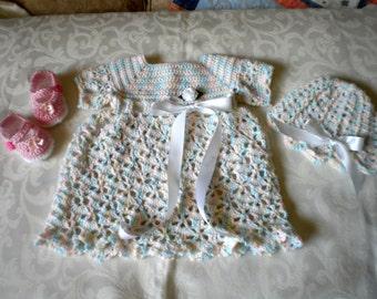 Soft Pastel 3 Piece Dress Set