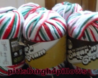 5 - Lily - Sugar & Cream - Cotton Yarn - Worsted 4 Ply - 95 Yards - 2.5 Ozs. - 100% Cotton - Mistletoe - 00138