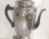 Vintage Coffee Pot, Chrome plated