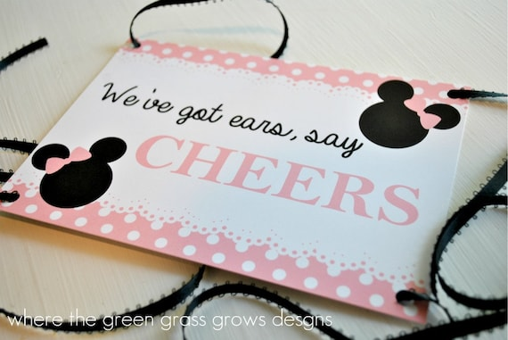 Minnie Mouse Drink 5x7 Sign