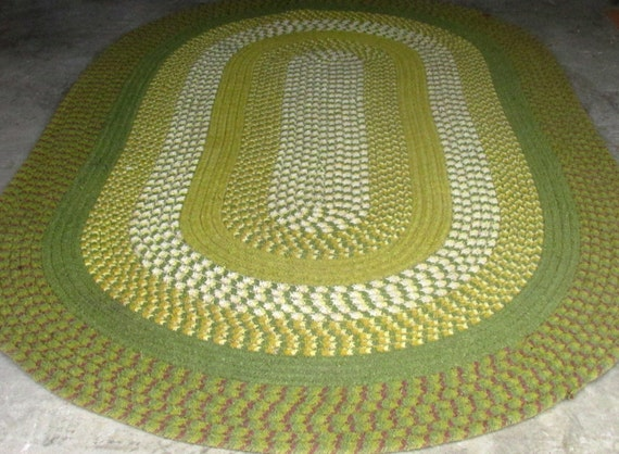 Vintage Braided Oval Rug Room Size Country Home D 233 Cor 101x