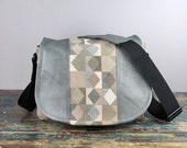 PRE ORDER Leather Camera Bag New Satchel  -   Gray Diamonds Leather  DSLR