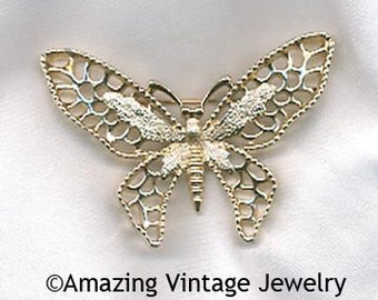 MADAME BUTTERFLY Pin - Sarah Coventry * Vintage 1971 * SALE 6.00