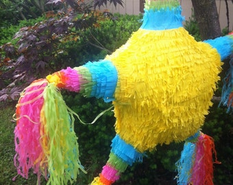 Fiesta Pinata - Star PInata - Party Pinata - Birthday Pinata - Holiday Pinatas - Handmade Pinata