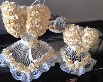 Corset- Centerpieces -Wired Form- Bridal Showers- Birthday Parties- Sweet Sixteen -Quincinero  - Bat Mitzvah