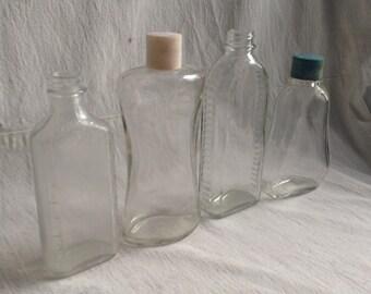 Vintage bottles  perfume bottles  medicine bottles