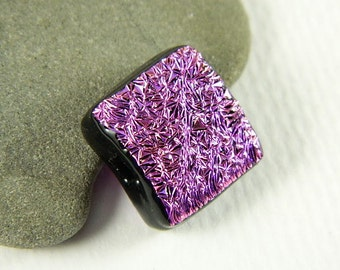 Pink  Dichroic Fused Glass Bead/Pendant- 7