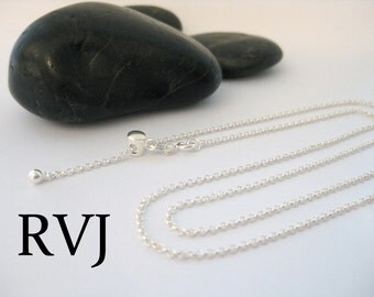 22 Inch Adjustable Sterling Silver Rolo Style Chain