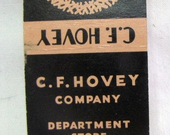 1940s C F Hovey Department Store Boston MA Matchcover