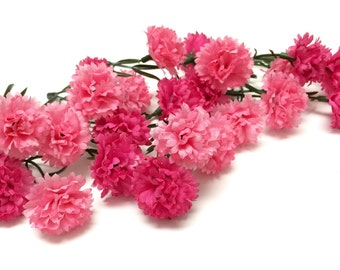 Artificial Flowers - One Lot Two Tone Pink Mini Mums - Flower Crown, Halo, Woodland Crown