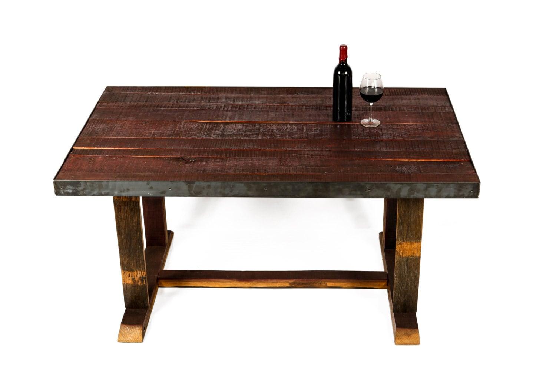 Napa visala wine barrel dining table by winecountrycraftsman for 1 2 wine barrel table
