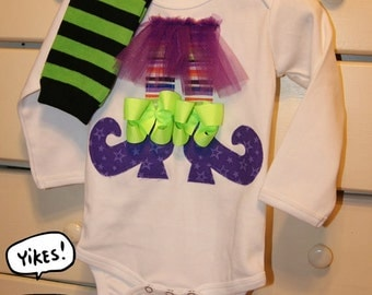 Baby Girl My First Halloween Witch Bodysuit Set