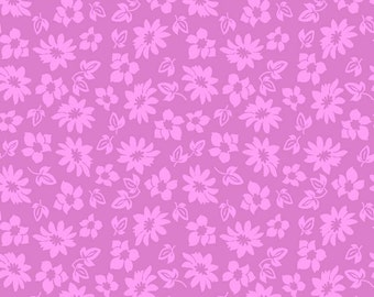 Petals in Purple Extravaganza Fabric - 1 Yard
