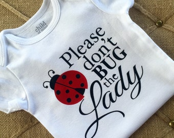 Ladybug, Onesie,  bodysuit, children clothing, baby, tops,shirt