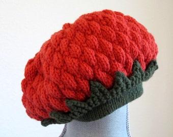 Winter sale- Girl's Berry Beret, Little Girl's Hat