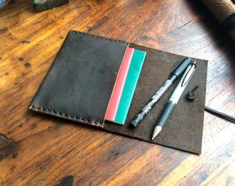 Trek passport wallet, handmade passport case, leather travel wallet, man wallet, wallets, holders and cases by Aixa Sobin, maker