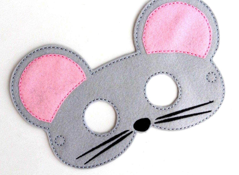 kids mouse mask mouse costume felt mask kids face mask