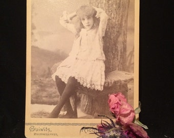 Unusual Pose - Cabinet Photo - Girl of Richfield Springs , New York