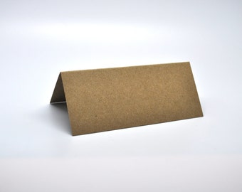 KRAFT Tent cards - Qty 50 - Placecard - 1 1/2 x 3 1/2 - Favor Packaging - Rustic wedding - Kraft wedding - Name card
