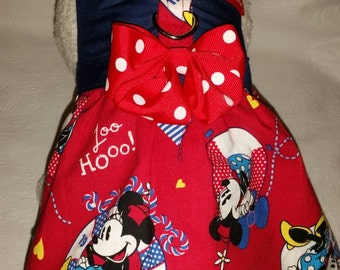 I'm a Nautical Baby! Minnie Mouse Life Saver Summer July 4th Theme Personalize Harness Dress. Perfect item for your dog, cat or ferret.