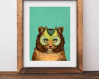 OwlCat // Signed A3 print