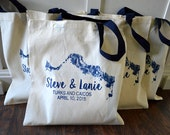 10+ Turks And Caicos Custom Canvas Wedding Tote Bags - Eco-Friendly Natural Cotton Canvas
