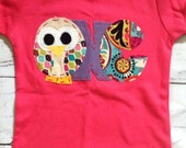 Owl birthday shirt 1, one, ready to ship, t shirt, girl pink,