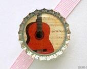 Guitar Bottle Cap Magnet - guitar magnet, fridge magnet guitar gifts, music teacher gift for music lover music magnet gift for guitar player