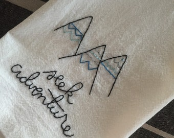 Seek Adventure Flour Sack Towel