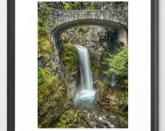 Nature Photography, Waterfall, Fine Art Photography, Waterfall, Green, Nature Photography, fPOE (6 sizes)