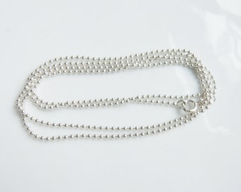 24 inches 1.5mm Sterling silver ball chain, finished silver ball chain,ball chain necklace,