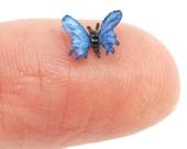 1:12  Scale Dollhouse Miniature Blue Morpho Butterfly