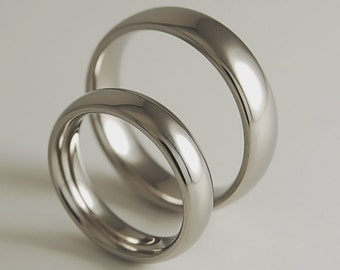 Wedding Bands , Titanium Rings , Olympia Bands with Comfort Fit interiors
