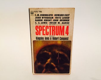 Vintage Sci Fi Book Spectrum 4 1966 Paperback Anthology