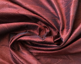 Brown 100 Percent Pure Silk Dupioni Fabric By The Yard Decorative Silk Fabric Silk Fabric Wholesale Raw Silk Fabric Indian Silk