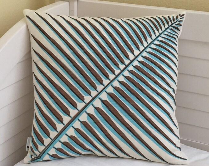 Quadrille China Seas Bahama Palm Leaf 18x18 Designer Pillow Cover