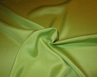 Acid Green Stretch 2 Ply Crepe Silk Fabric--One Yard