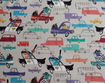 Cops and Robbers Chase Cotton Fabric by Timeless Treasures 1 yard