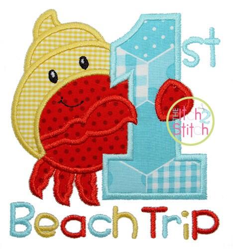 First beach trip applique words is