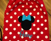 Disney Drawstring Backpack with monogrammed name