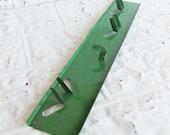 Vintage Metal Garden Tool Organizer // Wall Mount Broom Rack