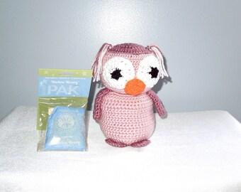 Baby Stuff Owl, Crochet Baby Owl, Stuffed Animal, Crochet, Baby Girl, Pink, Toy,